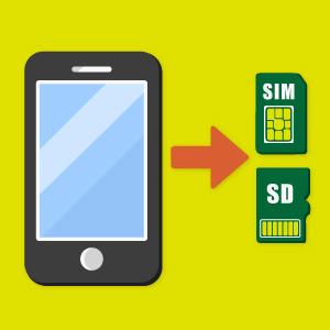 SIMカード・SDカードは、必ず抜いてください