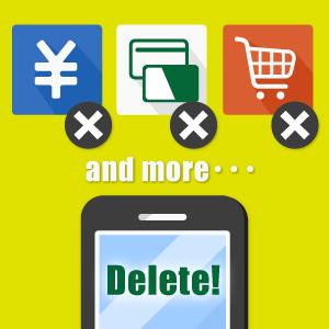 おサイフケータイ・楽天Edy・モバイルSuicaなどのICアプリはすべて削除して下さい